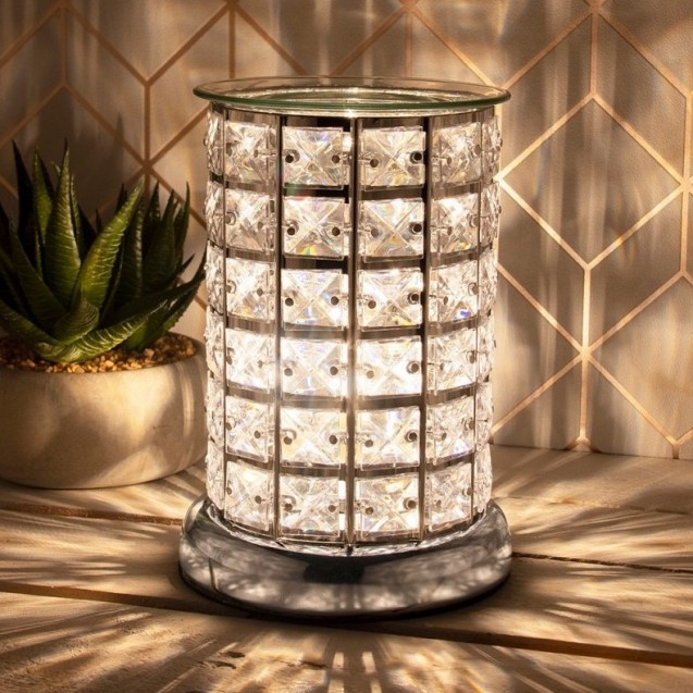 Desire Aroma Silver & White Touch Lamp